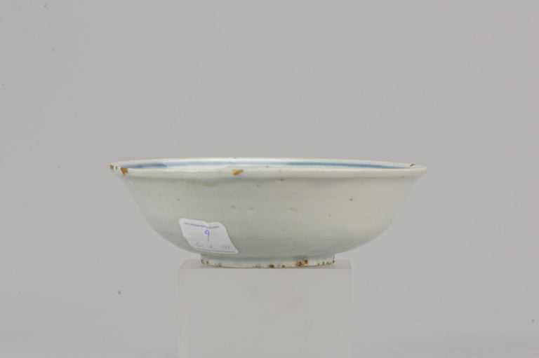 Antique Chinese 16th Century Chinese Porcelain Bowl Grapes Ming Tianqi For Sale 10