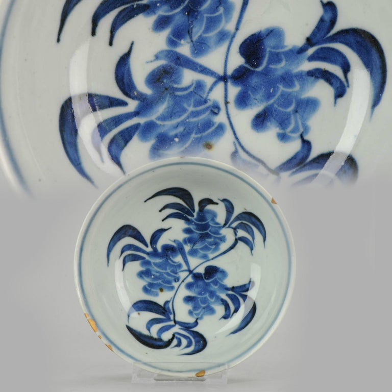 A very nicely decorated bowl. Late Ming or transitional with scene of horse in a landscape.