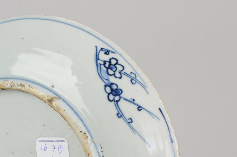 Antique Chinese 16th Century Porcelain Ming Wanli China Plate Buddhist For Sale 2