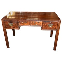 Antique Chinese 19th Century Teak Wood Writing Desk