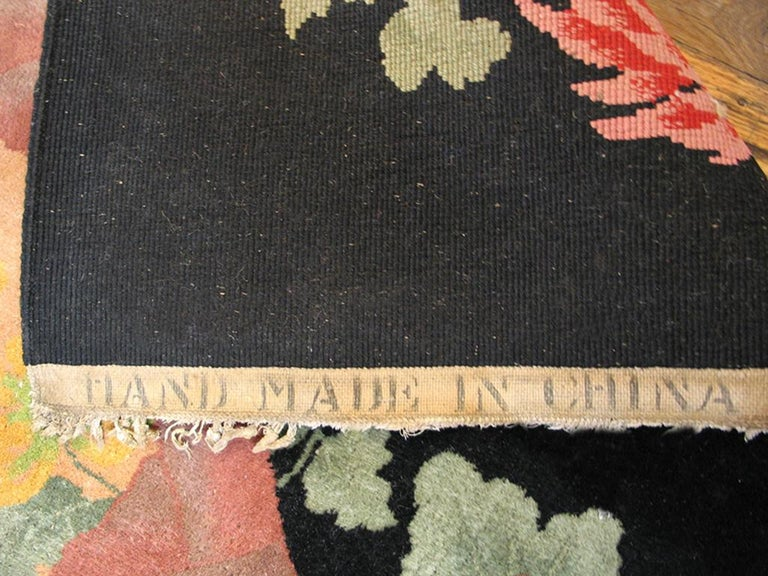 Antique Chinese Art Deco Rug For Sale 1