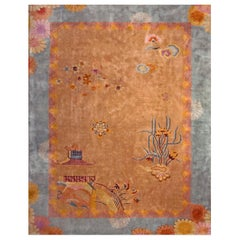 Antique Chinese Art Deco Rug