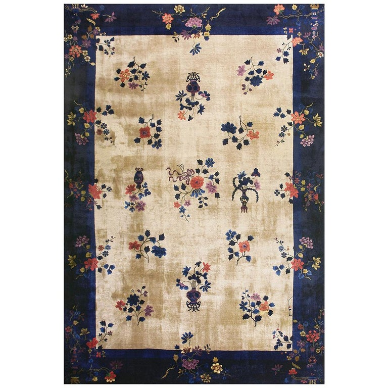 Chinese Art Deco rug, 1920, offered by Antique Rug Studio