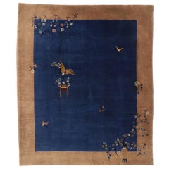 Antique Chinese Art Deco Rug with Ming Dynasty Style