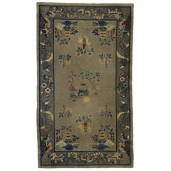 Antique Chinese Art Deco Rug with Pictorial Design