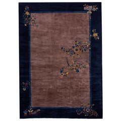 Antique Chinese Art Deco Wool Rug