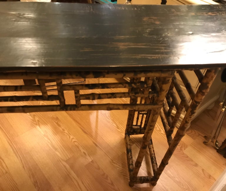 Antique Chinese Bamboo Altar Table For Sale 6