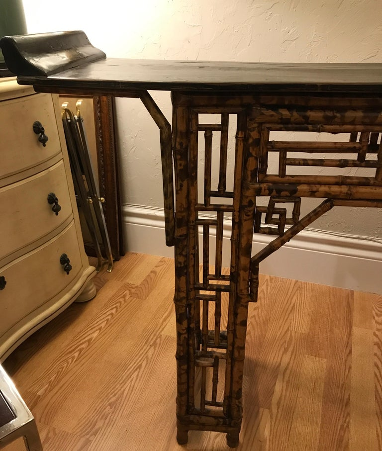Antique Chinese Bamboo Altar Table In Good Condition For Sale In West Palm Beach, FL
