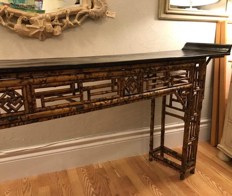 Antique Chinese Bamboo Altar Table For Sale 1