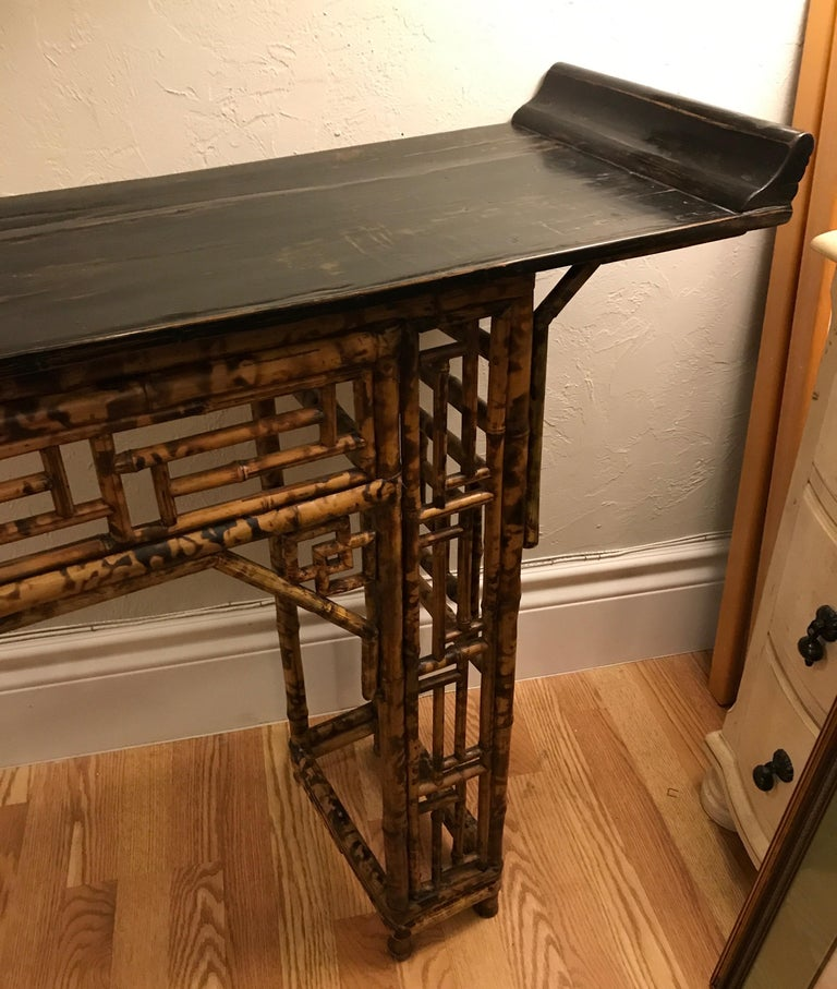 Antique Chinese Bamboo Altar Table For Sale 2
