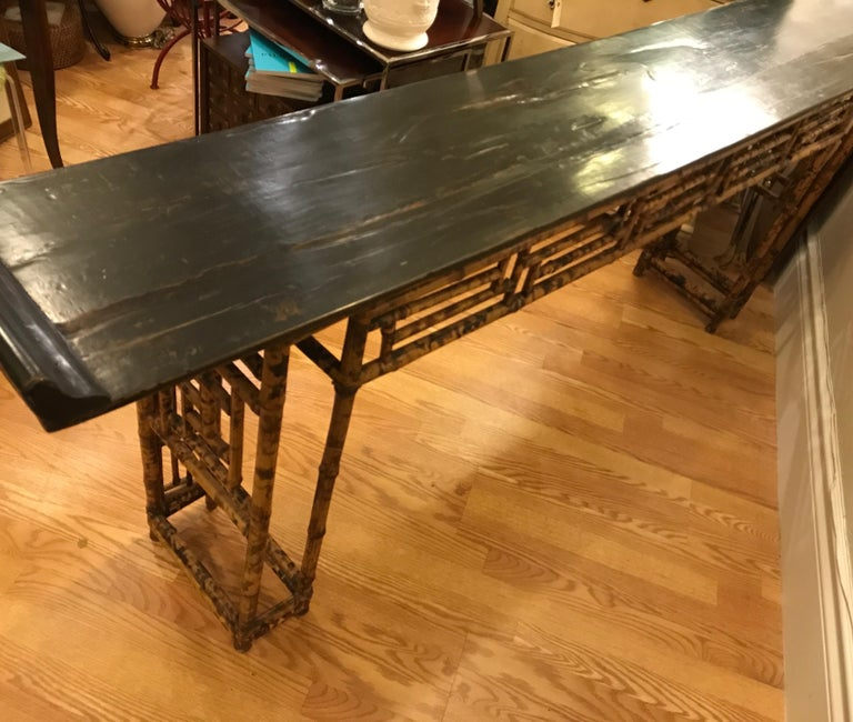Antique Chinese Bamboo Altar Table For Sale 5
