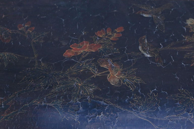 Chinese Export Antique Chinese Black Lacquer Table For Sale