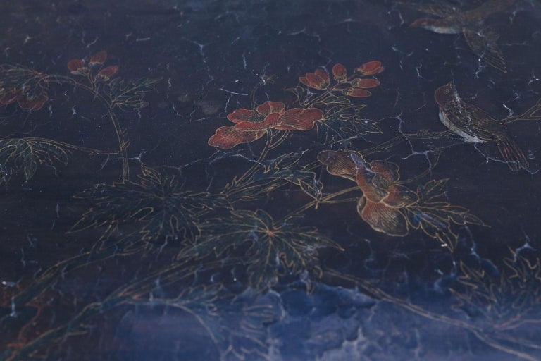 Antique Chinese Black Lacquer Table In Good Condition For Sale In Houston, TX