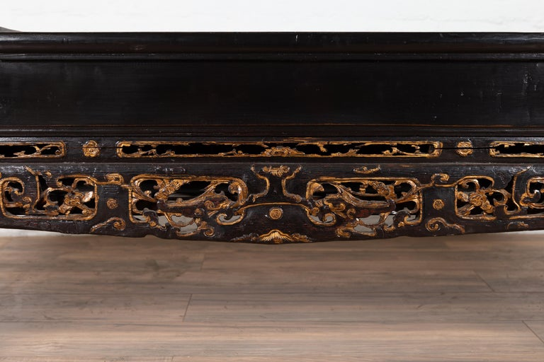 Brilliant Antique Chinese Black Lacquered Bench With Hidden Storage And Gilt Decor Pdpeps Interior Chair Design Pdpepsorg