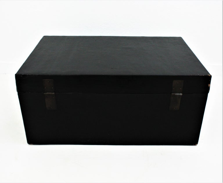 Antique Chinese Black Lacquered Trunk For Sale 12