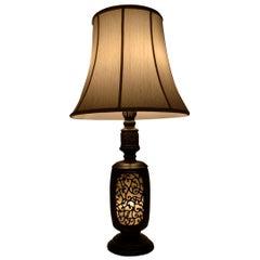 Antique Chinese Bronze Lantern Lamp