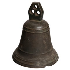Antique Chinese Cast Bronze Ceremonial Bell, 19th Century
