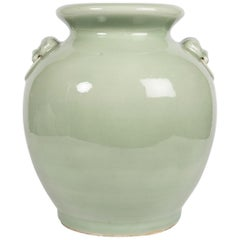 Antique Chinese Celadon Jar in Yue Style