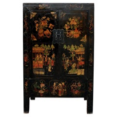 Antique Chinese Chinoiserie-Style Cabinet 2