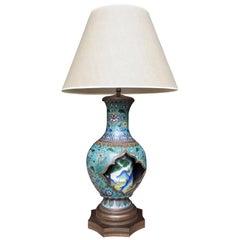 Antique Chinese Cloisonné Vase Table Lamp