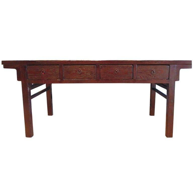 19th Century Antique Chinese Console with Drawers For Sale