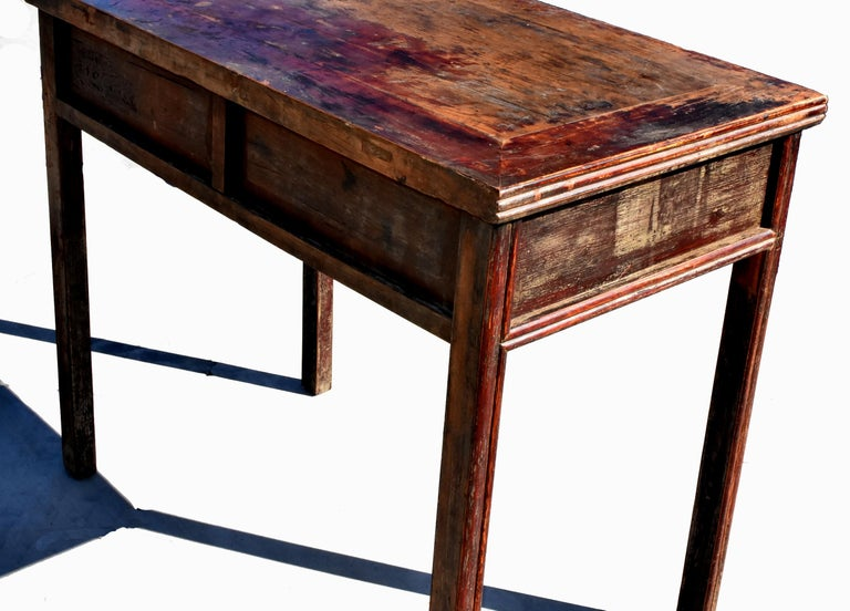 Antique Chinese Desk Ming Style Table Two Drawers For Sale 4