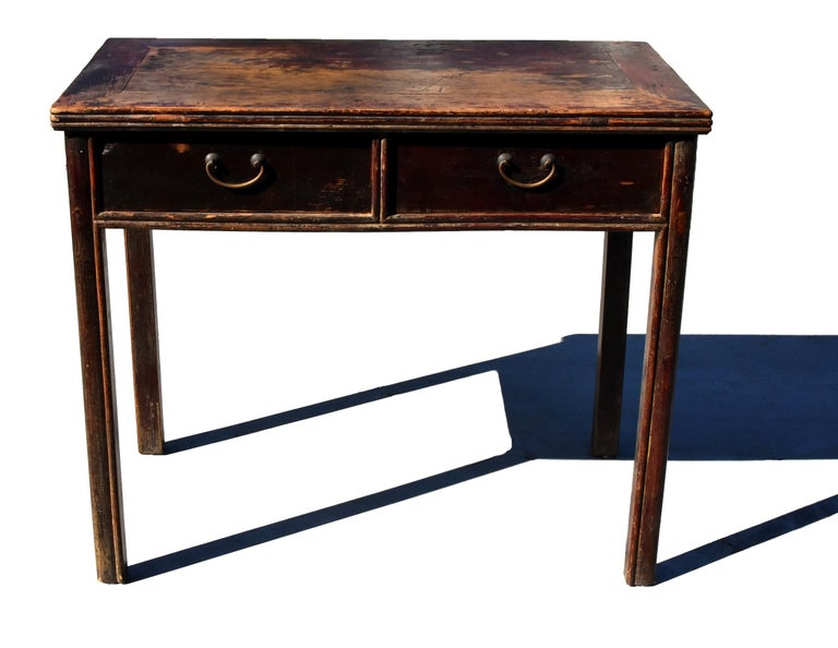 Antique Chinese Desk Ming Style Table Two Drawers For Sale 7