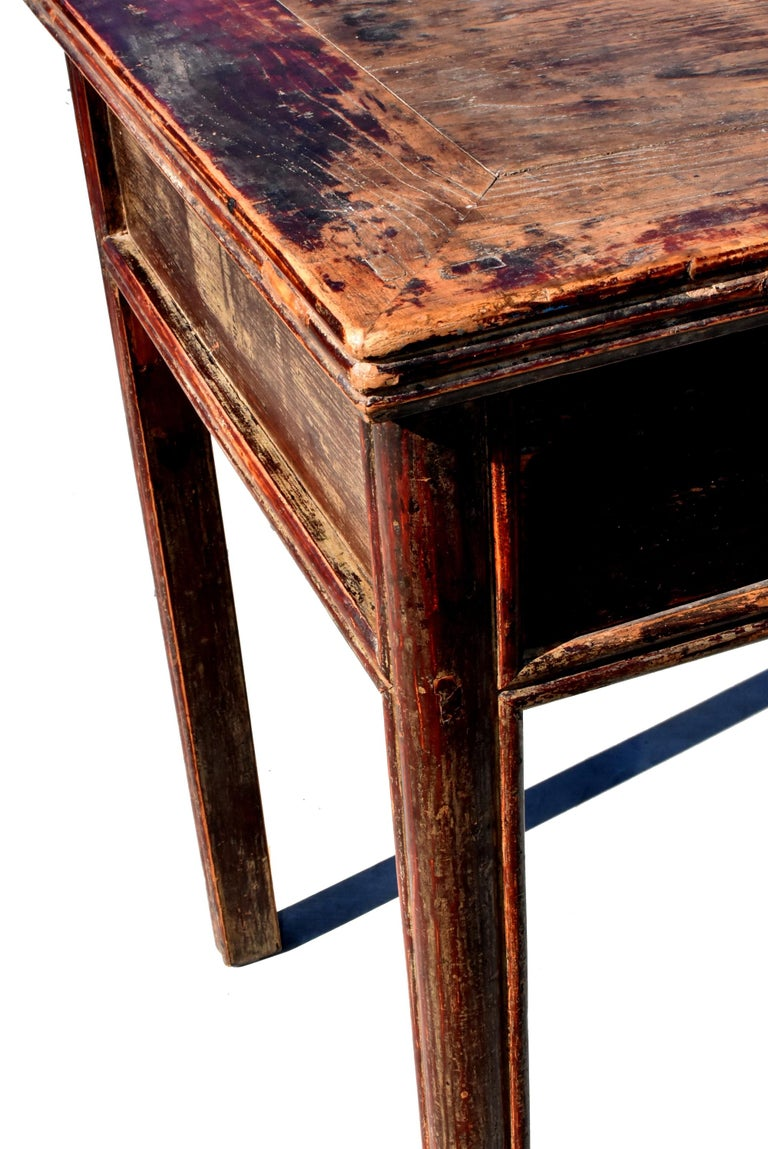 Antique Chinese Desk Ming Style Table Two Drawers For Sale 8