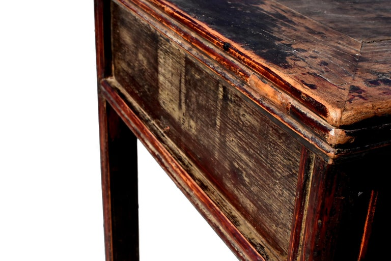 Antique Chinese Desk Ming Style Table Two Drawers For Sale 9