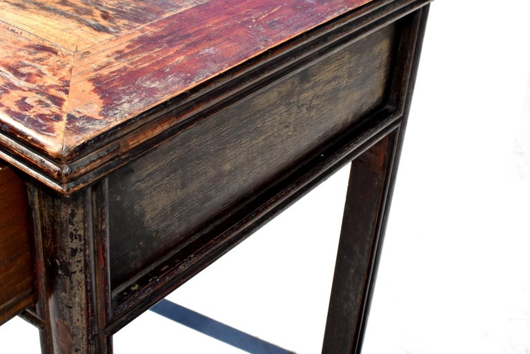 Antique Chinese Desk Ming Style Table Two Drawers For Sale 12