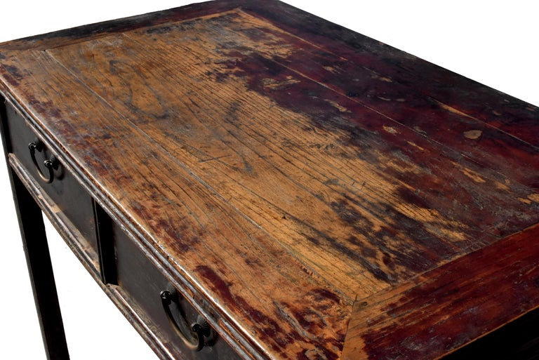 Antique Chinese Desk Ming Style Table Two Drawers For Sale 1