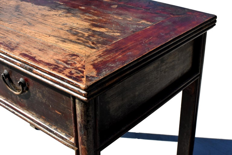 Antique Chinese Desk Ming Style Table Two Drawers For Sale 3