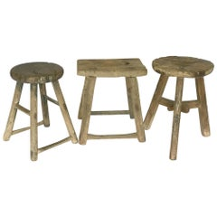 Antique Chinese Elm Stools
