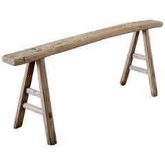 Antique Chinese Elmwood Bench