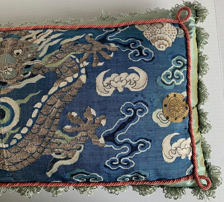 Silk Antique Chinese Embroidered Textile Custom Pillow For Sale