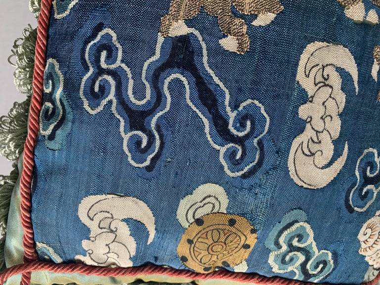 Antique Chinese Embroidered Textile Custom Pillow For Sale 1
