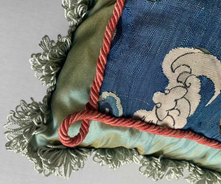 Antique Chinese Embroidered Textile Custom Pillow For Sale 2
