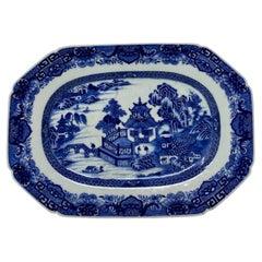 "Antique Chinese Expert ""Blue & White"" Platter, circa 1780-1800"