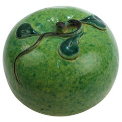 Antique Chinese Export Porcelain Green Apple Altar Fruit Ex-Gutfreund Collection