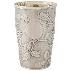 Antique Chinese Export Silver Beaker