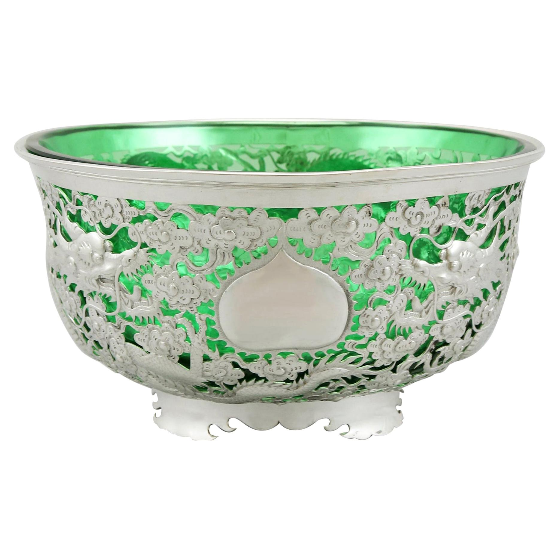 Antique Chinese Export Silver Bowl, circa 1890