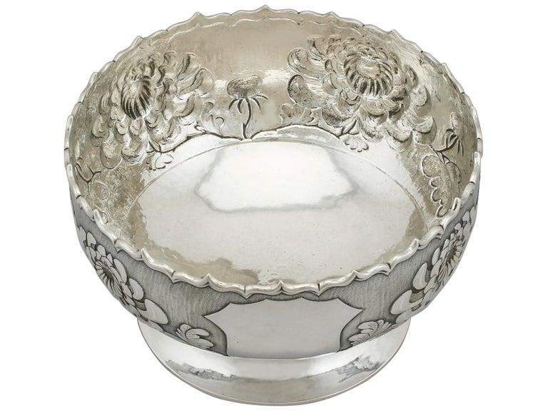 Antique Chinese Export Silver Bowl, circa 1900 In Excellent Condition For Sale In Jesmond, Newcastle Upon Tyne