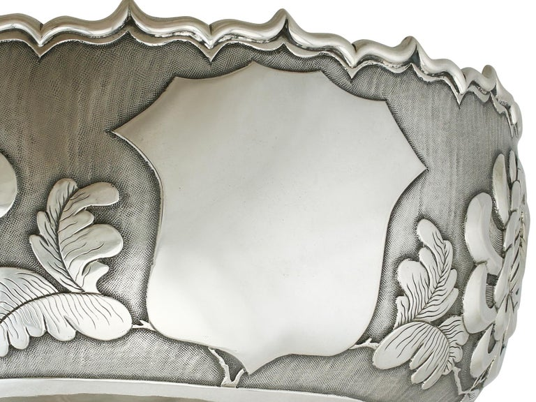Antique Chinese Export Silver Bowl, circa 1900 For Sale 1