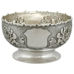 Antique Chinese Export Silver Bowl, Circa 1900