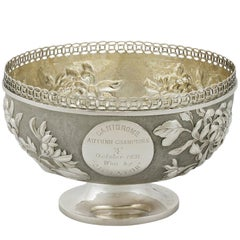 Antique Chinese Export Silver Bowl, circa 1920