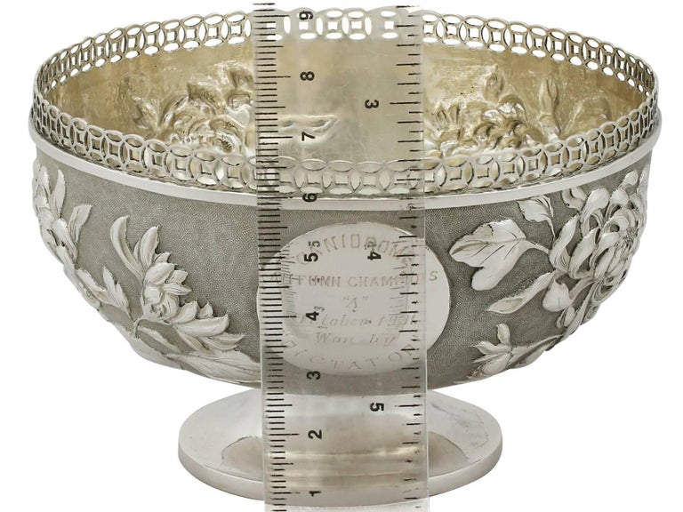 Antique Chinese Export Silver Bowl For Sale 4