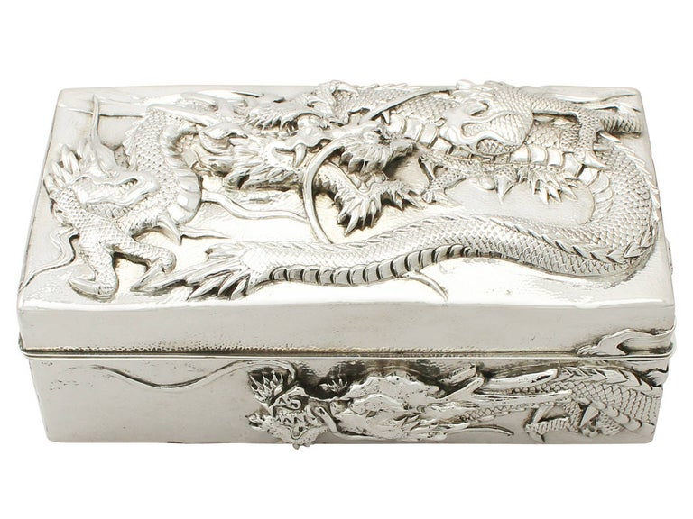 Other Antique Chinese Export Silver Box For Sale