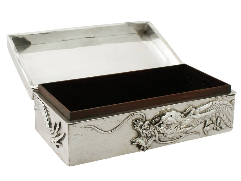 Antique Chinese Export Silver Box For Sale 1