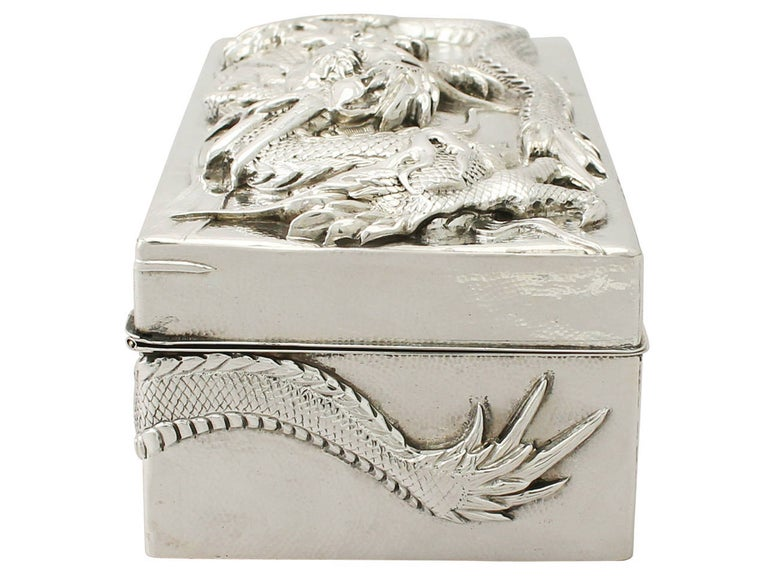 Antique Chinese Export Silver Box For Sale 2