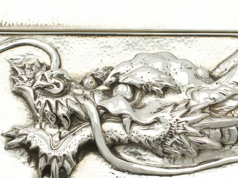 Antique Chinese Export Silver Box For Sale 3